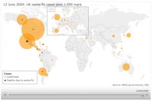 BBC Swine Flu Infographic